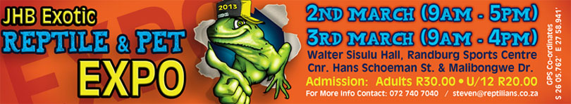 JHB Exotic Reptile and Pet Expo